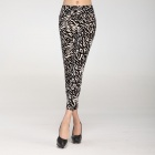 LC79232 Fashionable Women's South Korea Velvet Leggings - Black + White (Free Size)