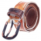 Fashionable Men's Head Layer Cowhide Leather Waist Belt w/ Zinc Alloy Buckle - Black + Brown + Green