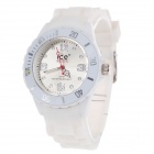 ICE Fashionable Silicone Wristband Women's Quartz Analog Wrist Watch - White (1 x LR626)
