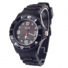 ICE Fashionable Silicone Wristband Men's Quartz Analog Wrist Watch - Black (1 x LR626)