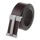 T.acttion 9060046 Fashionable Head Layer Cowhide Men's Waist Belt w/ Zinc Alloy Buckle - Brown