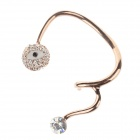 Fashionable Rhinestone Decoration Evil Eye Zinc Alloy Left-Ear Earring for Women - Golden