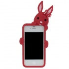 Cute Cartoon Rabbit Style Protective Silicone Back Case for Iphone 4/4S - Red