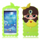 Cute 3D Girl Style Protective Silicone Back Case for Samsung Galaxy S4 i9500 - Green