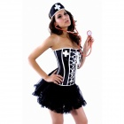 Slim Fit Nurse Costumes for Halloween - Black (Size-L)
