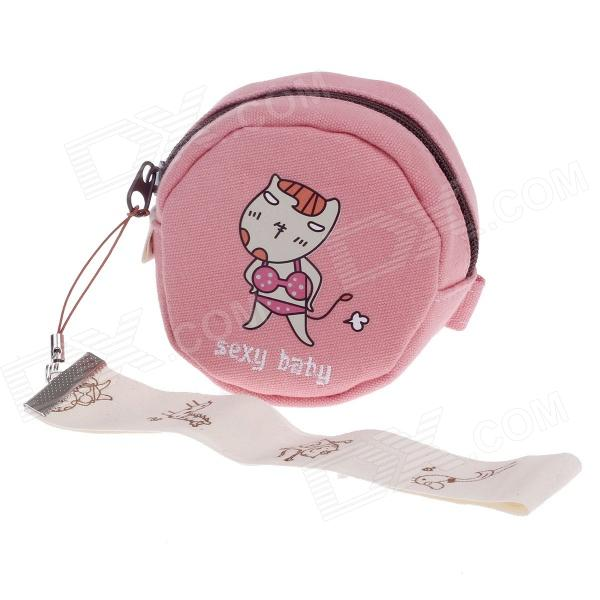 LM-1255 Sexy Baby Pattern Canvas Change Purse - Pink