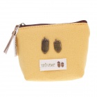 LM-1254 Winter Pattern Retro Style Change Purse - Yellow