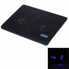 "Shunzhan SZ215 USB 2.0 Cooling Pad 2-Fan Cooler for 14"" Notebook Laptop - Black"