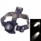 Rechargeable 160lm 3-Mode White Zooming LED Headlamp w/ Cree XP-E Q5 - Black