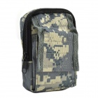 800D Waterproof Fabrics Waist Bag for Investigation Tools - Camouflage Grey