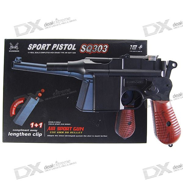 SQ303 6mm Caliber Spring-load Sport Pistol BB Gun Toy