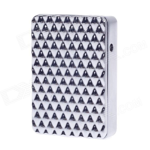 SHAYU Aluminum Alloy Diamond Pattern USB Rechargeable Lighter - Silver (5V)