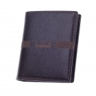 Boshihou 60808-B Fashionable High-Grade Head Layer Cowhide Folding Men's Wallet - Deep Brown
