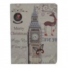 Big Ben Pattern Protective PU Leather Auto Sleep Case for Ipad 2 / 3 / 4 - Grey