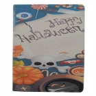 White Skull Pattern Protective PU Leather Case Cover Stand for Ipad 2 / 3 / 4 - Multicolored