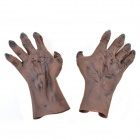 Halloween Rubber Ghost Hands - Brown + Black (Pair)