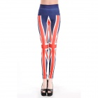 LC79235 Fashionable Women's Great Britain Leggings - Red + White + Blue (Free Size)