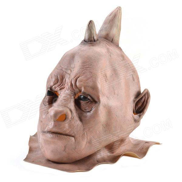 Halloween Rhino Demon w/ Two Horns Mask - Pink