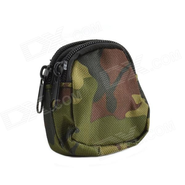 800D Waterproof Fabrics Mini Outdoor Accessories Bag / Carry-on Wallet - Camouflage Army Green