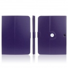 ENKAY ENK-7035 360' Rotation Protective PU Leather Case Cover Stand for Samsung Tab 3 P5200 - Purple
