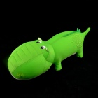 Cute Stuffed Nano Little Crocodile Doll Toy - Green + White