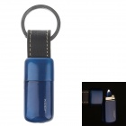 Portable Butane Gas Lighter Keychain - Deep blue + Black