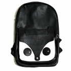 White Fox Stil PU-Leder Rucksack - Black + White