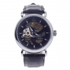 CJIABA GK8021 Double-Sided Skeleton Automatic Analog Men's Wrist Watch - Black + Golden + Blue
