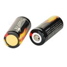TrustFire Protected 16340 880mAh Rechargeable Li-Ion Batteries (2PCS)
