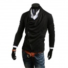 Men's Autumn Fashion Knitting Cardigan Sweater - Black (XL)