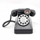 Retro Telephone Design ABS Coin Bank - Black