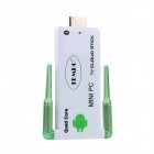 TEMPO J22 Android 4.2 Quad Core Mini PC w/ 2GB RAM, 8GB ROM, Bluetooth - Green + White