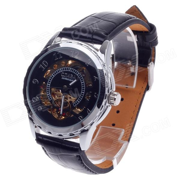 CJIABA GK8019 Fashionable Automatic Mechanical Analog Men's Wrist Watch - Black + Golden + Silver