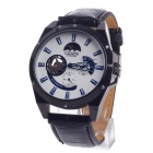 CJIABA GX507 Fashionable Automatic Mechanical Analog Men's Wrist Watch - Black + White + Blue