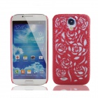 Stylish Newtons Hollow Rose Patterns Protective PC Back Cover Case for Samsung Galaxy S4 - Red