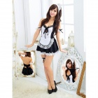 Maid Character Women's Suit for Cosplay - Black + White (Free Size)