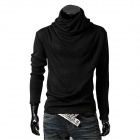 Fashionable Men's Turtleneck Sweater - Black (Size-XL)
