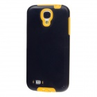BENWIS Protective Plastic Back Case w/ Dustproof Plug for Samsung Galaxy S4 i9500 - Black + Yellow