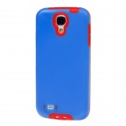 BENWIS Protective Plastic Back Case w/ Dustproof Plug for Samsung Galaxy S4 i9500 - Blue + Red