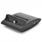 Cell Phone Charging Dock / Battery Charger w/ USB Data Cable for Samsung Galaxy S3 / i9300 - Black