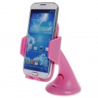 Plastic Universal Car Swivel Mount Holder for Samsung Galaxy S4 i9500 - Pink + Deep Pink