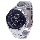 CJIABA 8023 Stainless Steel Band Quartz Analog Men's Wrist Watch - Black + Silver (1 x LR626)