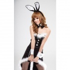 Christmas Bunny Character Women's Uniform - Black (Free Size)