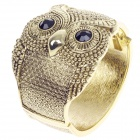 Retro Simple Owl Style Zinc Alloy Bracelet - Black + Golden