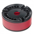 High Quality Stainless Steel Ashtray - Black + Red