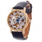 CJIABA GK8013 Stylish Roman Number Mechanical Automatic Men's Wrist Watch - Black + Golden + White