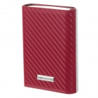 Focus YH-008 PU Leather + Stainless Steel Cigarette Case - Silver + Red (Holds 4 PCS)