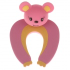 Cute Cartoon Mouse Style Safety Door Stopper - Deep Pink + Yellow