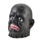 Buy Halloween Black Long-face Ghost Mask - + Red