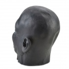 Halloween Black Long-face Ghost Mask - Black + Red